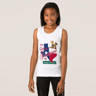 Texas Flag Shape CUSTOM Cowgirl Girls Are Prettier Tank Top