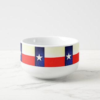Texas Flag Soup Mug
