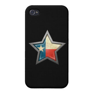 Texas Flag Star on Black Case For iPhone 4