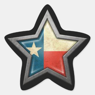Texas Flag Star on Black Sticker
