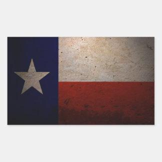 Texas flag rectangular stickers