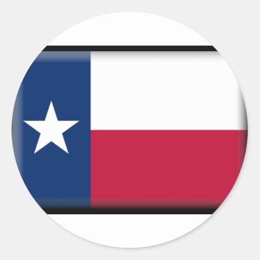 Texas Flag Round Sticker