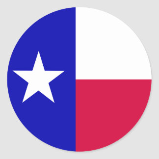 Texas Flag Round Stickers