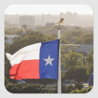 Texas Flag Square Stickers