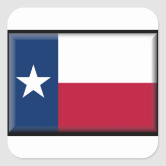 Texas Flag Square Stickers