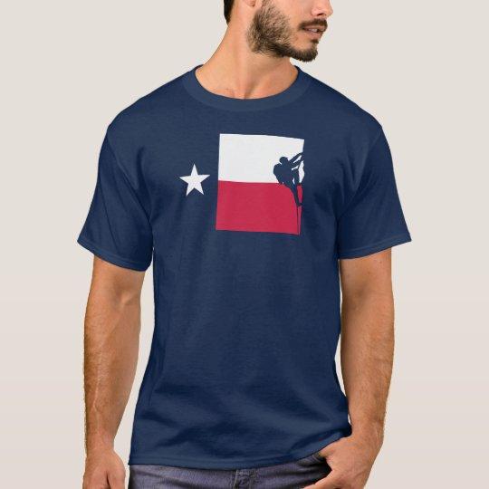 Texas Flag T-Shirt - Rock Climbing