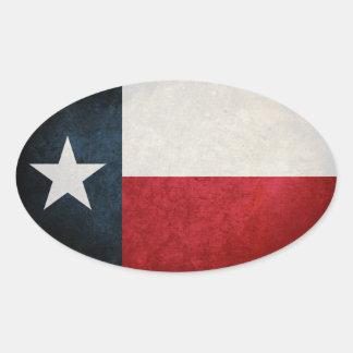 Texas Flag; Texan; Oval Sticker