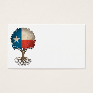 Texas Flag Tree of Life Customizable Business Card