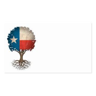 Texas Flag Tree of Life Customizable Pack Of Standard Business Cards