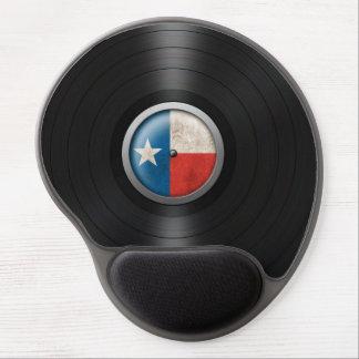 Texas Flag Vinyl Record Album Graphic Gel Mouse Mat