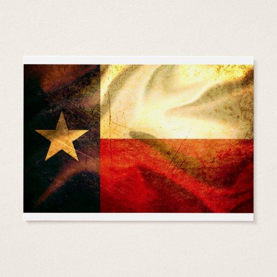 Texas Flag waving silk Business Card