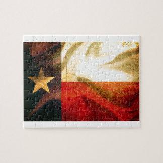 Texas Flag waving silk Jigsaw Puzzle