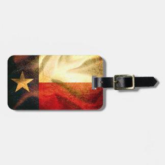 Texas Flag waving silk Luggage Tag