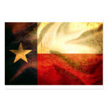 Texas Flag waving silk Pack Of Chubby Business Cards