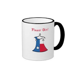 Texas Flower Girl Ringer Mug