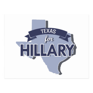 TEXAS FOR HILLARY -.png Postcard