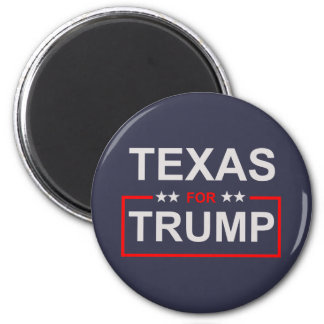 Texas for Trump 6 Cm Round Magnet