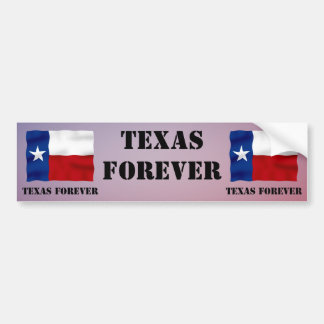 TEXAS FOREVER - Flag Text - Multi_Products Bumper Sticker