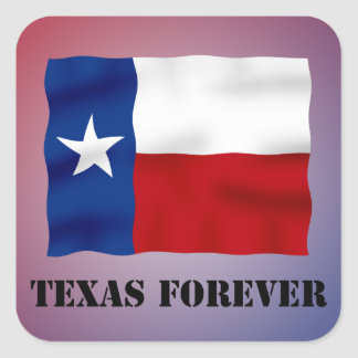 TEXAS FOREVER - Flag Text - Multi_Products Square Sticker