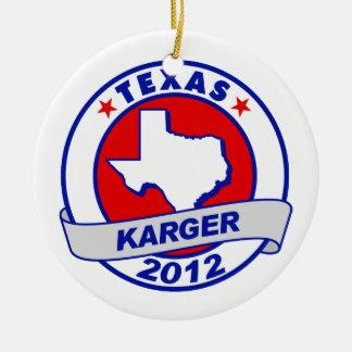 Texas Fred Karger Christmas Ornaments