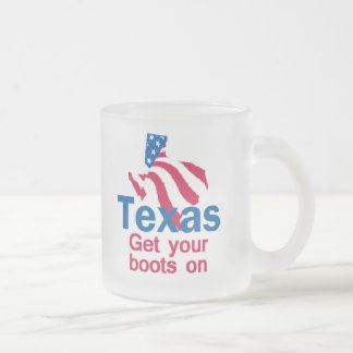 TEXAS FROSTED GLASS MUG