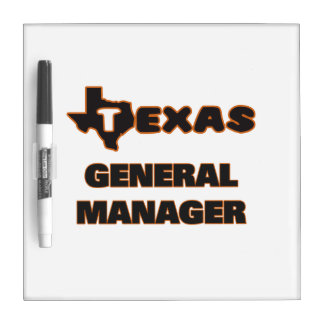 Texas General Manager Dry-Erase Board