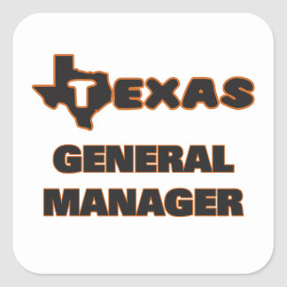Texas General Manager Square Sticker