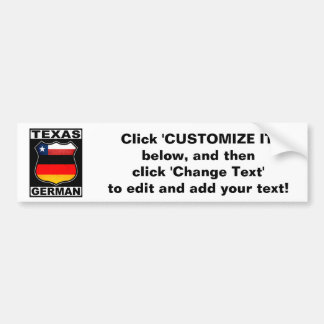 Texas German American Bumper Sticker