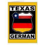 Texas German American Greeting Card