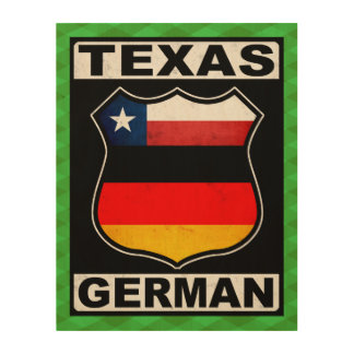 Texas German American Wood Wall Art