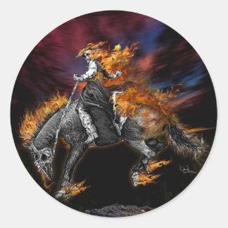 Texas Ghost Rider Classic Round Sticker