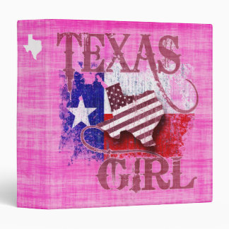 Texas Girl 3 Ring Binder