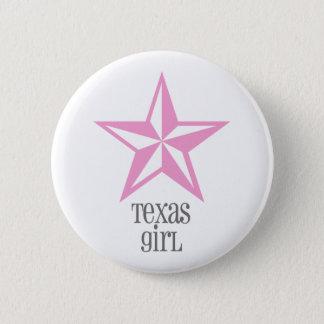 texas girl 6 cm round badge