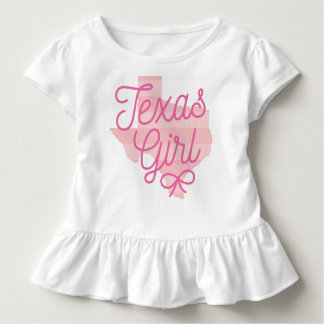 Texas Girl Big Script State Bow Toddler T-Shirt