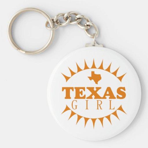 Texas Girl Keychain