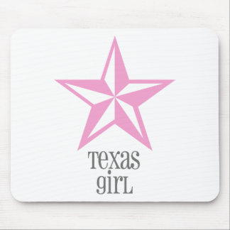 texas girl mouse mat