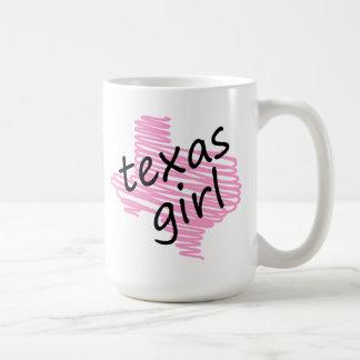 Texas Girl with Scribbled Texas Map Mug