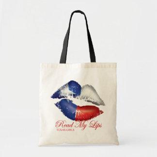 Texas Girls Read My Lips Tote Bag