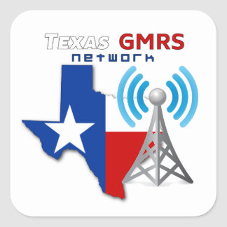 "Texas GMRS Network - 3"" Decals Square Sticker"