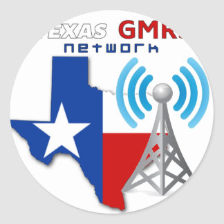 Texas GMRS Network Classic Round Sticker