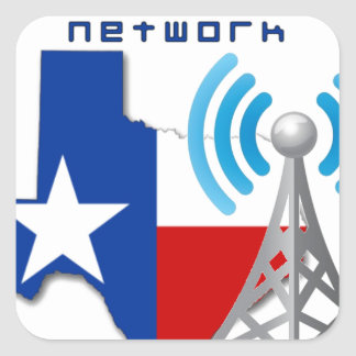 Texas GMRS Network Square Sticker