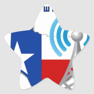 Texas GMRS Network Star Sticker