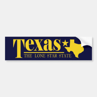 Texas Gold Bumper Sticker