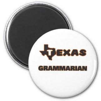 Texas Grammarian 6 Cm Round Magnet