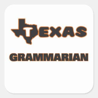 Texas Grammarian Square Sticker