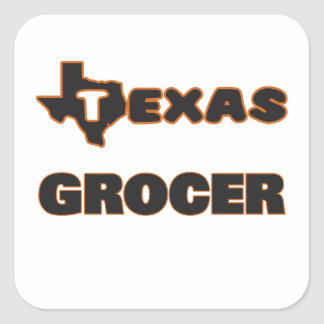 Texas Grocer Square Sticker