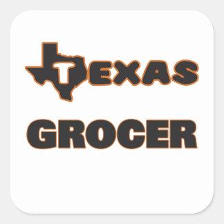 Texas Grocer Square Sticker