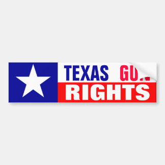 Texas Gun Rights Bumper Sticker