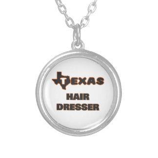 Texas Hair Dresser Round Pendant Necklace