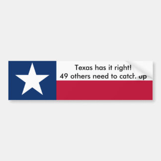 Texas has it right! bumper sticker